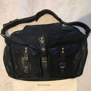 Authentic Balenciaga Classic Military Shoulder Bag
